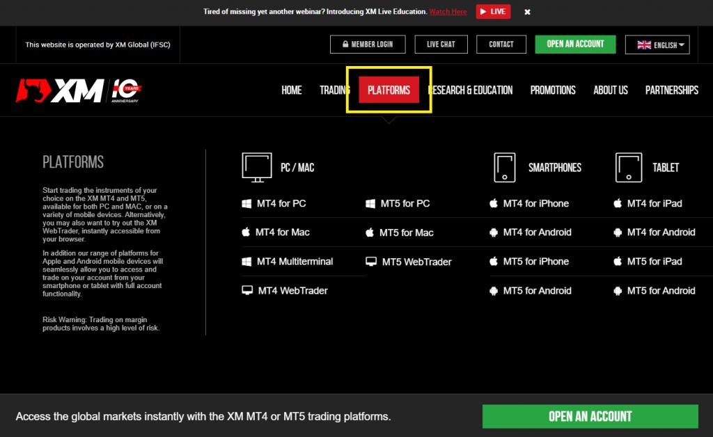 XM Download MetaTrader
