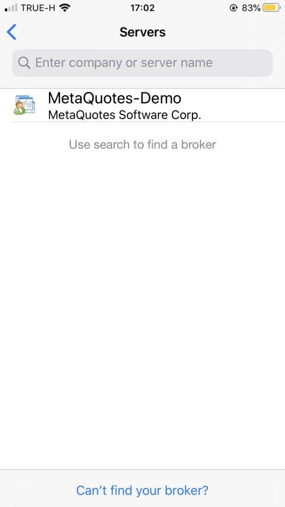 MT4 search server