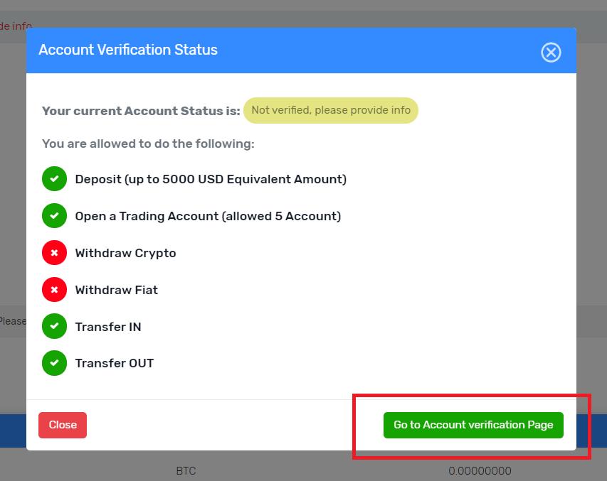 FXGT account verification status