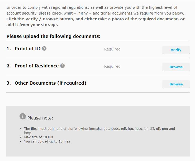upload PLE and POA documents