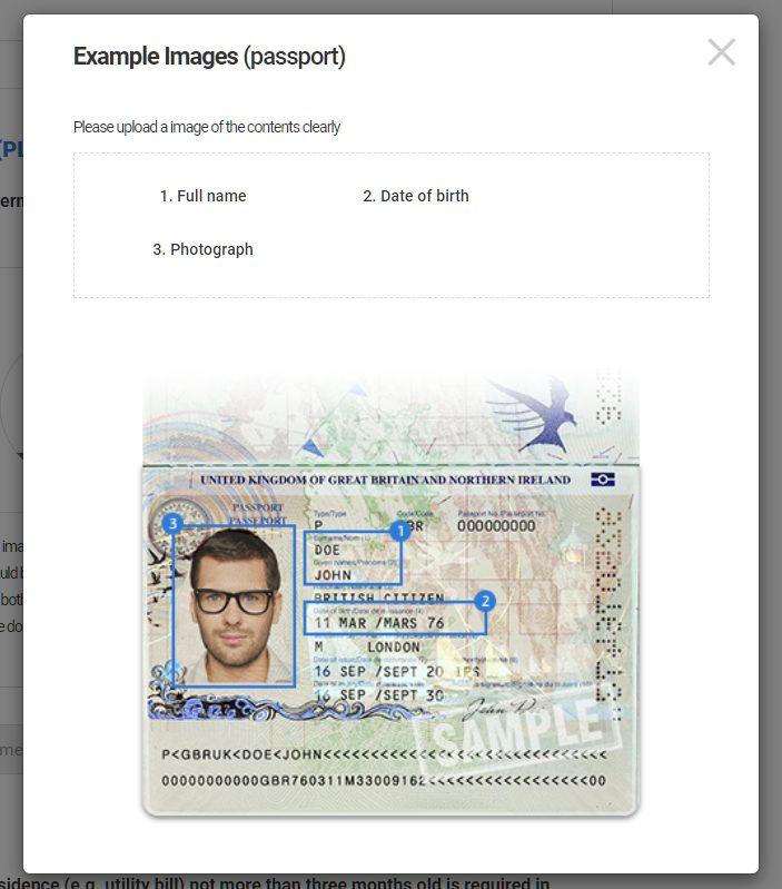 LAND-FX upload PLE document (passport)