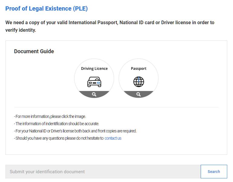 LAND-FX upload PLE document