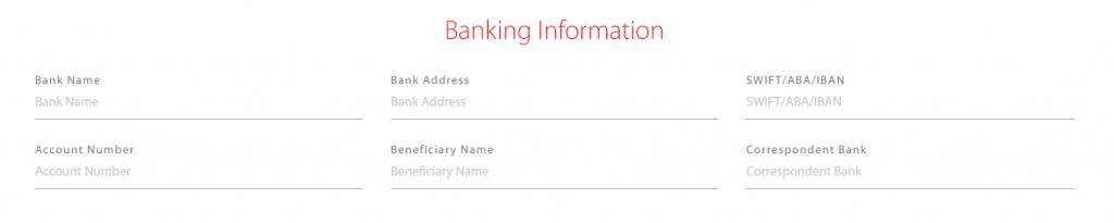 Tradeview banking information