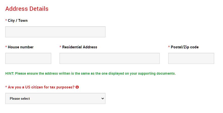 XM address details