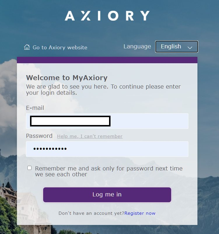 Open Axiory additional account