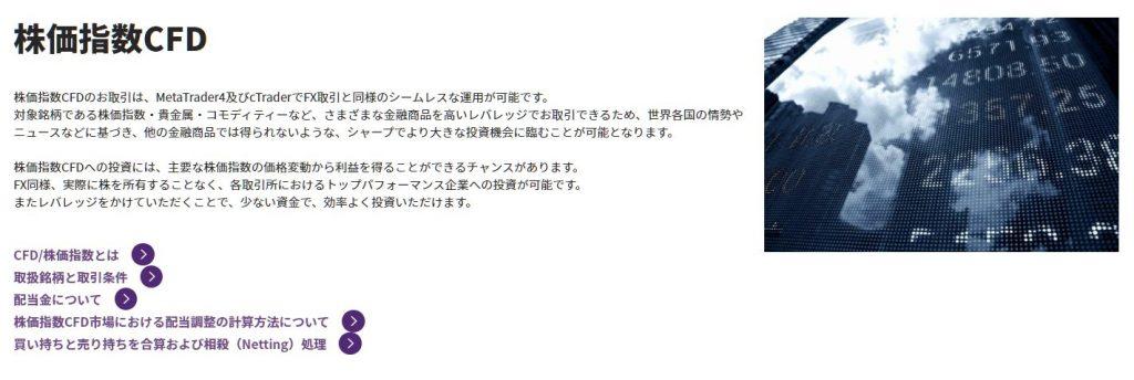 Axiory取引時間(株価指数CFD)