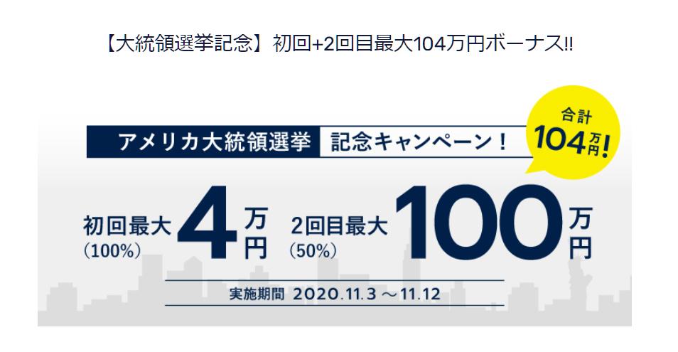 FXGT 2020年11月最新ボーナス(入金ボーナス)