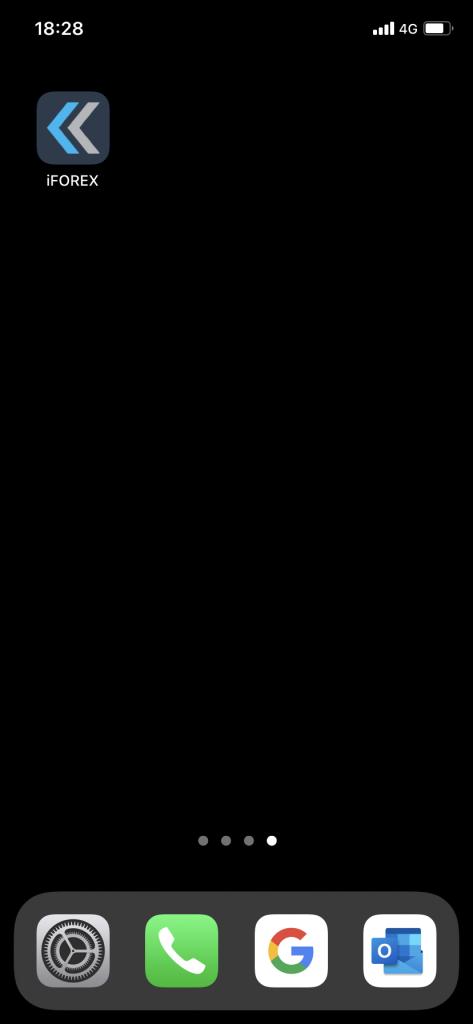 iFOREXスマホアプリ・ダウンロード完了