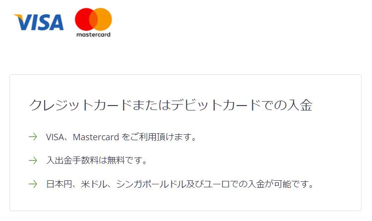 クレジット/デビットカードでTitanFXに入金