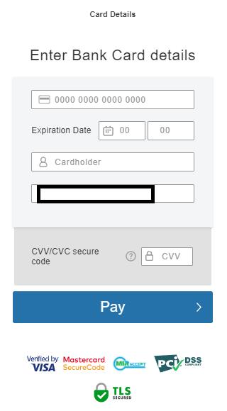 Tradeviewクレジットカード入金、クレジットカード情報の入力