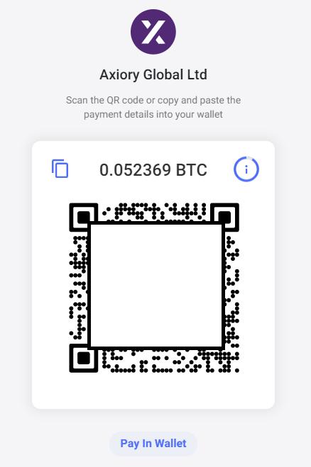 Axiory bitpay deposit, send crypto