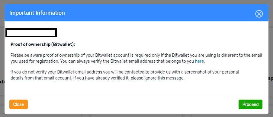 notes for bitwallet deposit