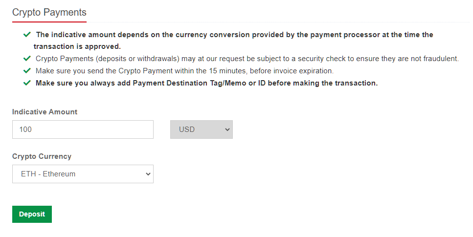 hotforex crypto payments