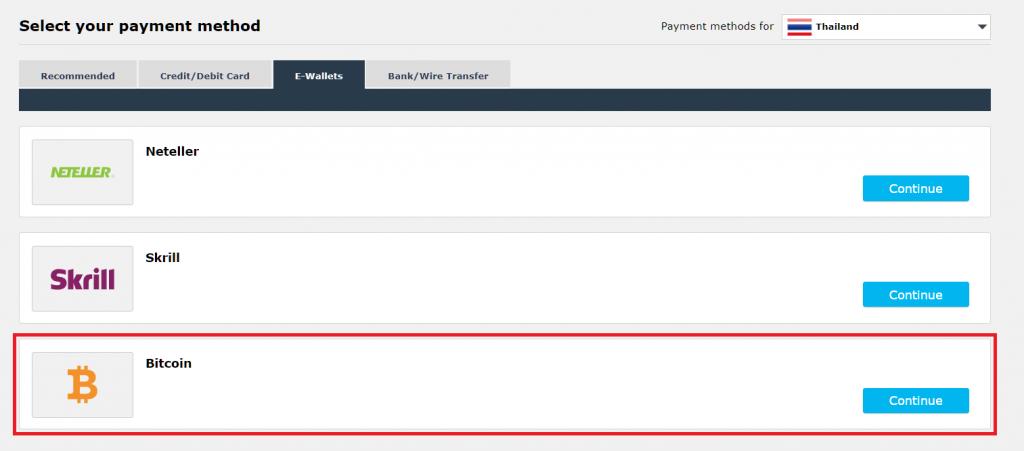 iFOREX bitcoin deposit