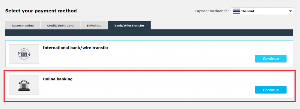 iFOREX domestic bank deposit