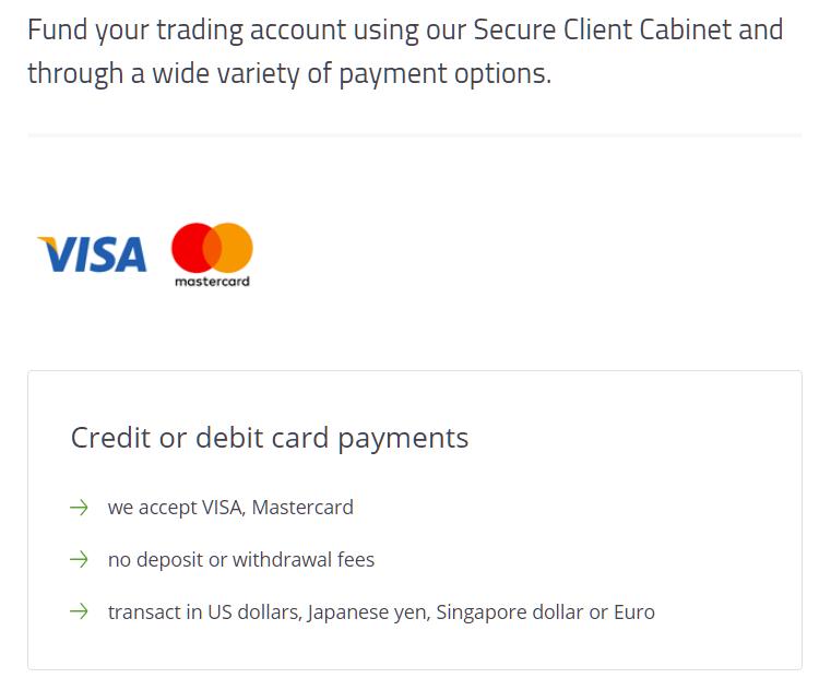 titanfx credit card deposit