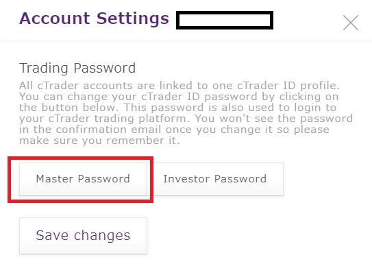 Axiory MT4/MT5, change password from myaxiory