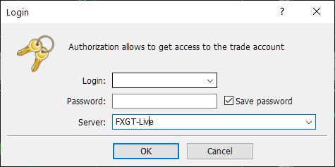 FXGT MT5, login