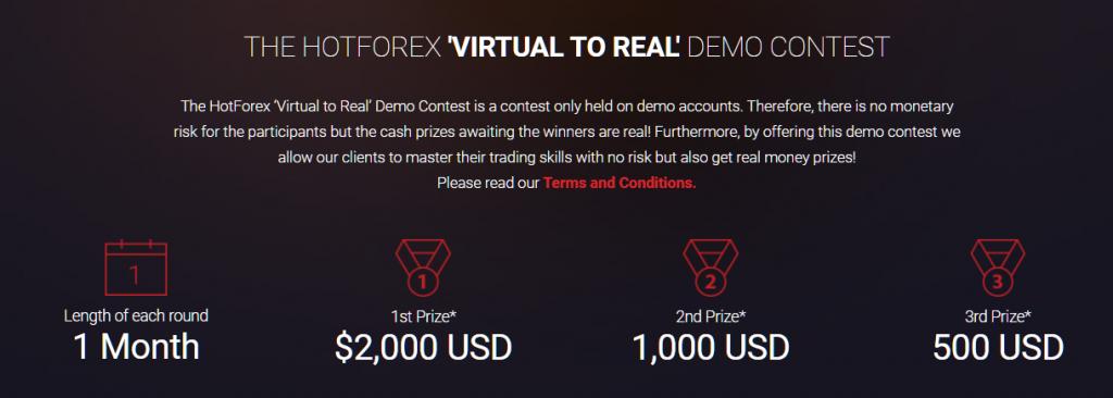HotForex demo account. demo contest