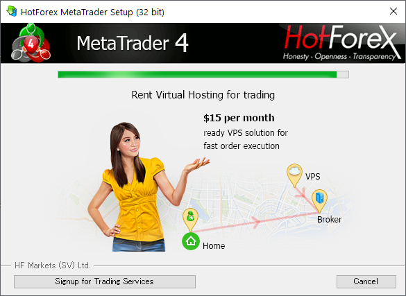 HotForex MT4/MT5, installing