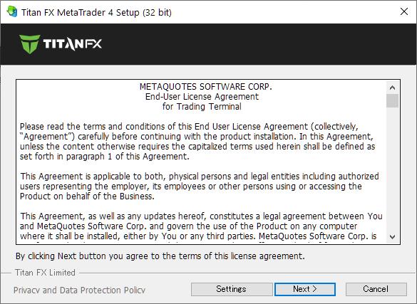 TitanFX demo account, MT4/MT5 install