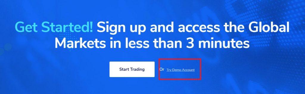 TMGMのデモ口座、Try Demo Account