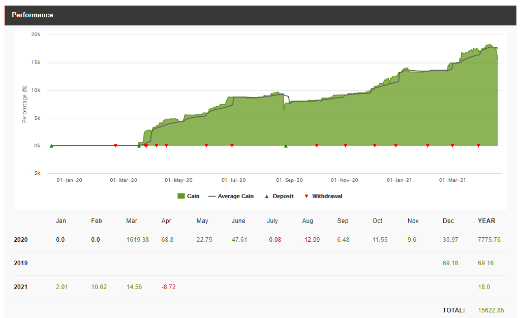 HotForex Copy Trading, performance