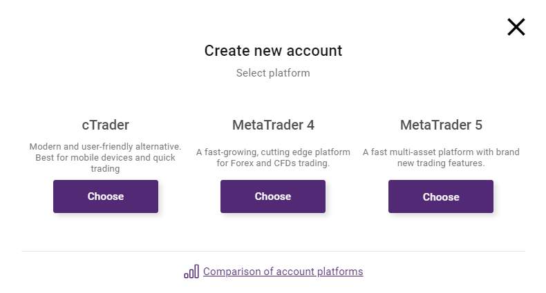 Select platform