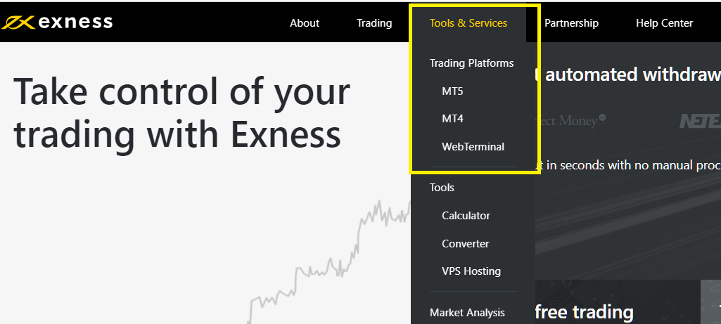 Exness Tools & Services