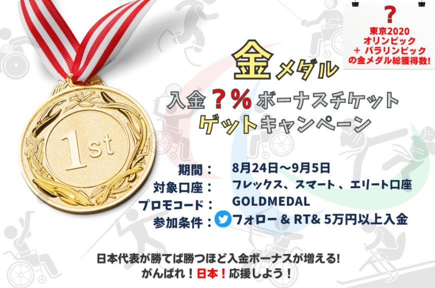 Milton Markets(ミルトンマーケッツ) 金メダル入金ボーナス