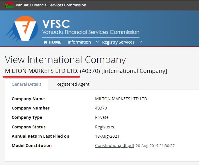 Milton Markets(ミルトンマーケッツ) VFSC